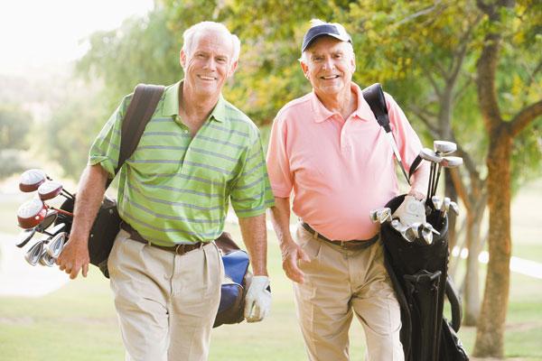 walking while golfing