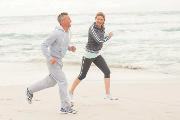 interval training, running, beach, exercise