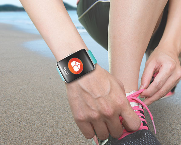wristwatch style heart rate monitor