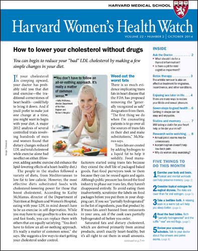 Harvard Women's Health Watch Cover